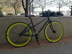 Single Speed Black and Green Fixie for Sale