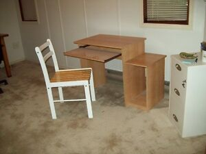 Small computer desk with chair