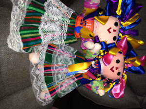 Handmade Mexican Dolls $2. each 50 in total all sizes, S.Surrey