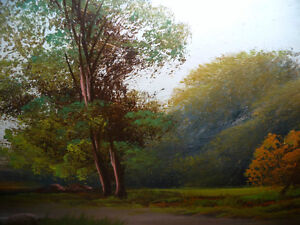 "Original Oil Painting ""Early Summer Path"" Vintage Early 1900's Stratford Kitchener Area image 8"