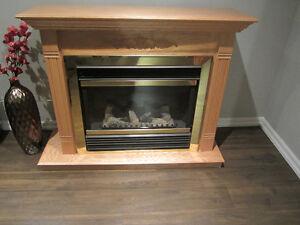 Oak Electric Fireplace - Nice!