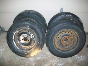 205 70 R15 Michelin X-ice on 5x114.3 steel rims fits many!!