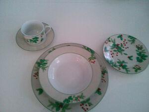 Set de vaisselle de Noël 12 personnes