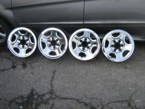 "6 bolt 16 "" 4 steel chrome rims Silverado, Sierra, 4x4"