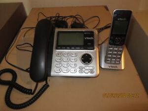 Vtech Digital Answering Machine with one portable phone