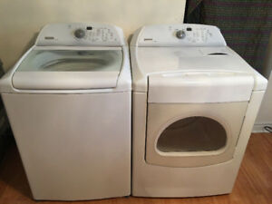 Maytag bravo white top load washer electric dryer 375 both