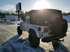 RECHERCHE JEEP TJ POUR PIECES/REPARATION LOOKING FOR JEEP