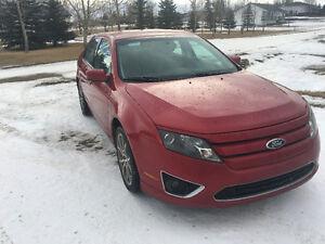 2011 Ford Fusion Red Sedan