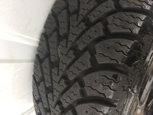 4 Goodyear Winter Nordic tires on rims , used one season.205/55 West Island Greater Montréal image 2
