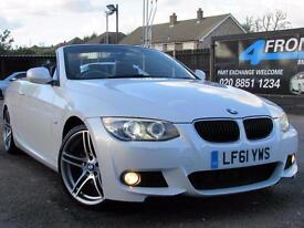 2011 BMW 3 SERIES 320D M SPORT 6 SPEED MANUAL CABRIOLET 2.0 DIESEL CONVERTIBLE