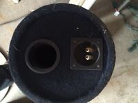 """10"""" subwoofer and carpeted tube"""