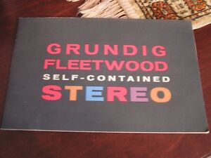 Vintage brochure- Grundig Fleetwood Self-Contained Stereo