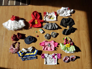 Build-a-Bear outfits and accessories lot