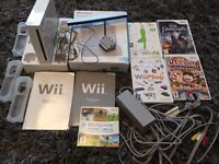 Nintendo Wii Console with 5 Games plus Connections