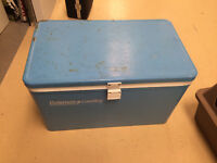Vintage Coleman LowBoy Cooler. In good condition for age.   Rus
