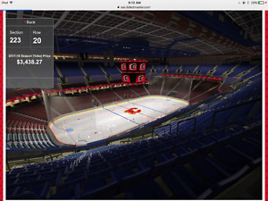 Calgary Flames ATTACK END ENITIRE SEASON TICKETS @ COST