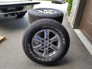 """2018  New OEM F150 Lariat 18"""" Factory Tires Wheels/TPMS take off"""