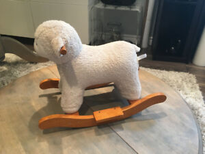Pottery Barn Kids Lamb Plush Rocker