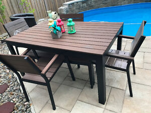 4 Seater Patio Dining Set with Chairs