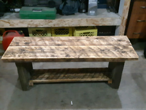 Hand made bench and chair