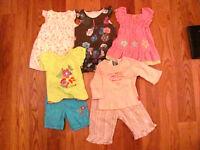 Lot de vêtements fille 6-12 mois printemps été de marque