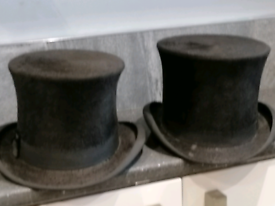 A pair of very old top hats £60