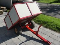 Trailer - For ATV or Garden/Lawnmower Tractor, 48(w)X40(l)X18(d)