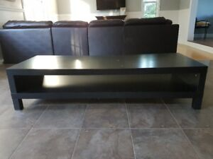 Dark stained TV stand for immediate sale