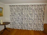 John Lewis lined floor length eyelet curtains. Perfect for patio or sliding doors