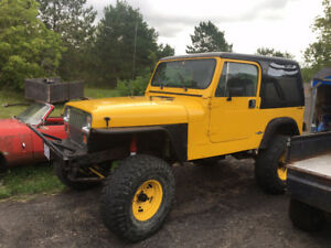 Package Deal 1987 & 1989 Jeep Wrangler with Parts Jeep