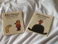 2 x john mouse roger Hargreaves books