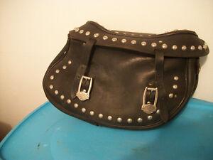 Vintage Harley-Davidson Studded Leather Saddle Bags