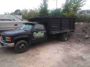 1997 gmc 3500 4x4 diesel dump truck