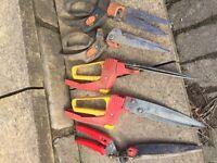 Garden scissors and fertiliser cart