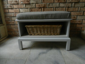 Storage Bench with Farmhouse Look