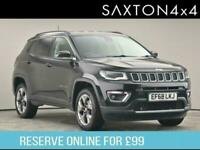 2018 Jeep Compass Limited 1.4 MultiAir II 170hp 4x4 Auto9 SUV Petrol Automatic