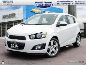 2015 Chevrolet Sonic (4) LT - 6AT TURBO TOUCH SCREEN SUNROOF AND