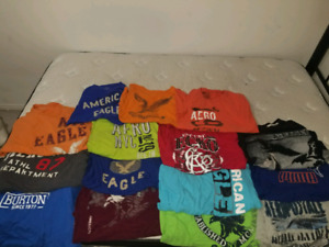 15 Male XL Brand name T-Shirts (AE, Areo, Burton)