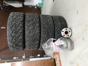 Goodyear Wrangler Duratrac 295/65/r18 and 1.5  spacers