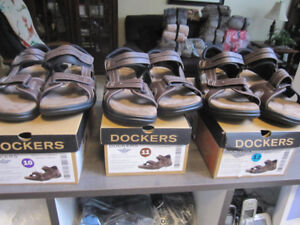 Sandals Brown Leather Dockers, 11,12, REDUCED - $22.00