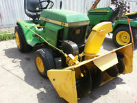John Deere 214 Lawn Tractor with Snow Blower