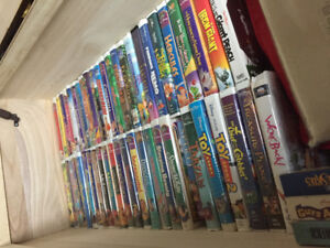 Complete Disney VHS Collection and VCR Player