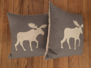 Two Moose Cushion Covers
