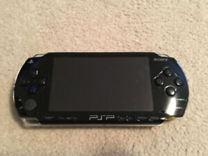 PSP with Games and Travel Case