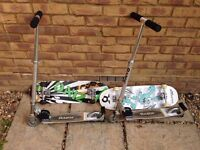 2 x Skateboard and 2 x Scooters (£10 each or all for £30)