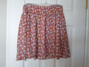 Old Navy women's floral printed circle skirt size large NWT