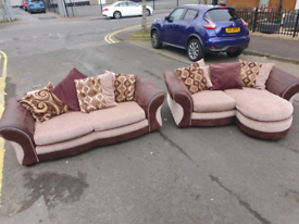 8. Dfs 3 seater and reversible corner 2 seater sofa