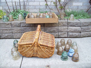 - Antique Glass Insulators*  *** Minimum   6 ** SEE  EACH PRICE