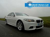 2012/62 BMW 5 SERIES 2.0 520D M SPORT AUTOMATIC 4DR ALPINE WHITE - HUGE SPEC!