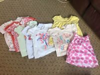Girls tshirts leggings jackets summer bundle 6-9 months baby clothes